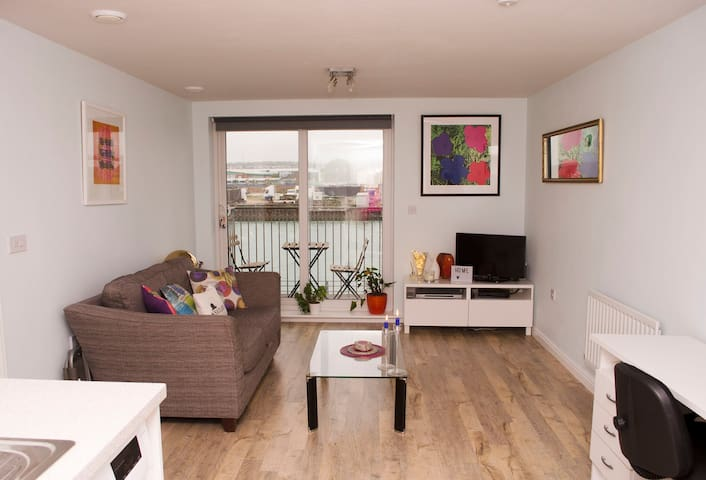 Tranquil one bedroom flat overlooking the river