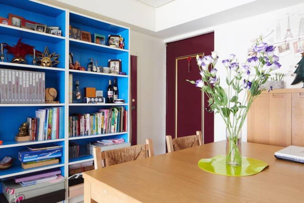 開放空間書桌和餐廳