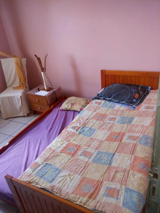 Le lit configurer pour 2 personnes