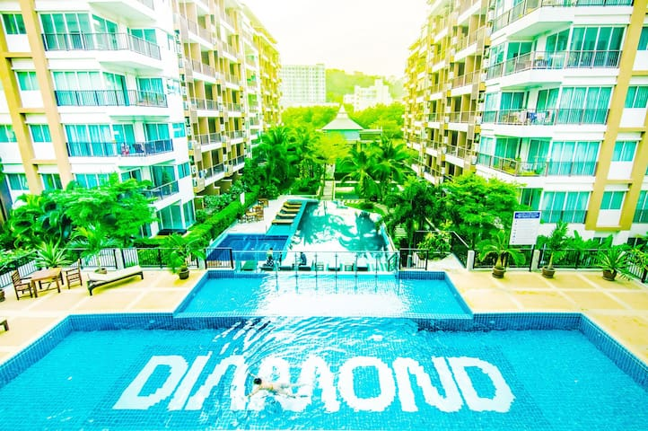 Cozy and quite 1 bedroom apartment 47sq.m. - Muang Pattaya - Appartement en résidence