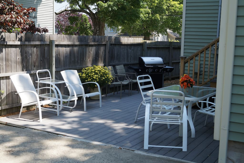 The back patio & grill