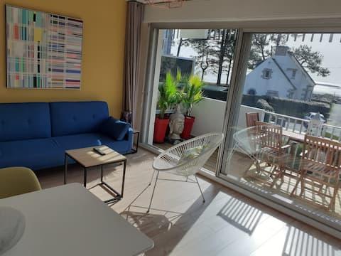 Appartement vue mer à 50 m de la plage de Beaumer