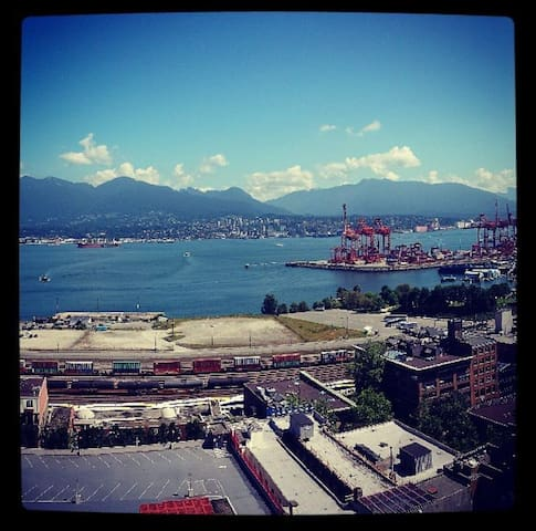 Amazing view of the Vancouver mountains and water.