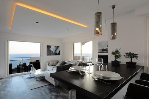 Luxury 1 br, panoramic sea view, 5mn from Monaco