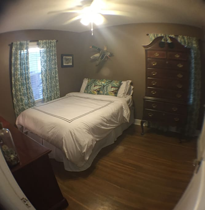 Guest bedroom, queen memory foam bed.