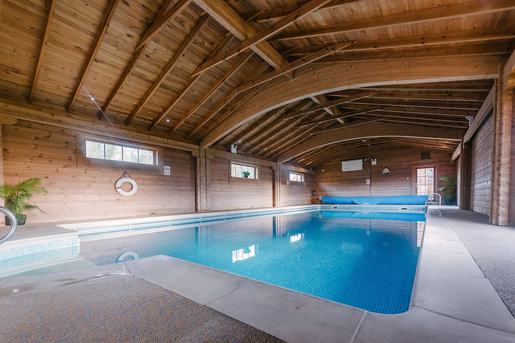 Indoor heated pool with sauna & gym