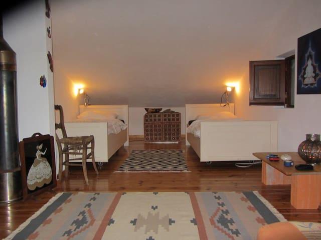 Ruime Kamer met twee eenpersoonsbedden