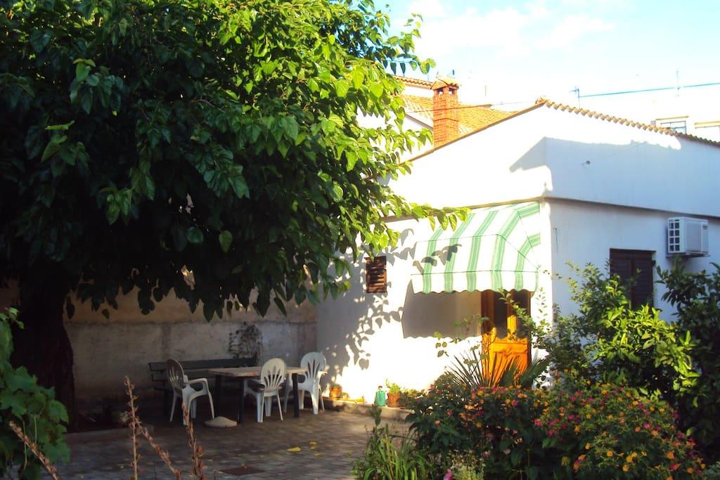 1 bedroom, 1 bathroom, AC, private Parking, Bungalow in garden