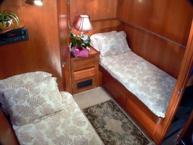 Bedroom three, upper bunk not set up.
