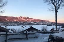 Client pictures! - Thanks Adam  The winter view you'll get to enjoy at sunset.  Photos clients! - Merci Adam  La vue hivernale dont vous pourrez profiter au coucher du soleil.