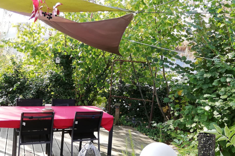 une petite pause au calme sur la terrasse
