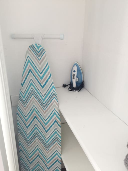 Ironing board found in bedroom 1 closet