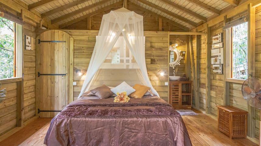 Chambre cosy avec lit king size