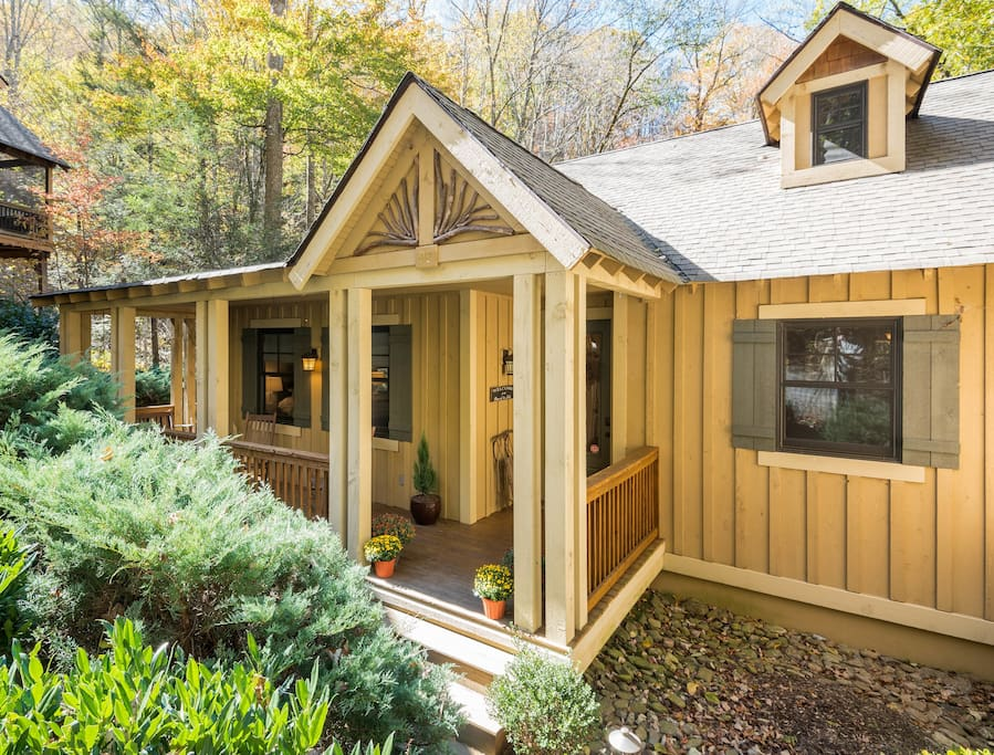 Craftsman style cottage in impeccable condition with front porch.