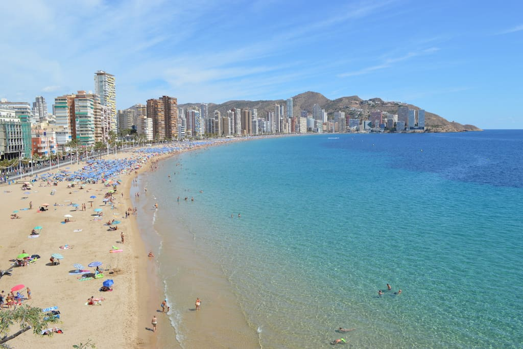 Beautiful Levante Beach only a few minutes walk! (Approx. 600m)