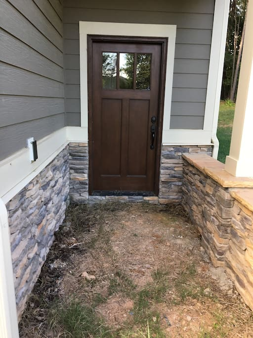 Front Entrance not 100% complete