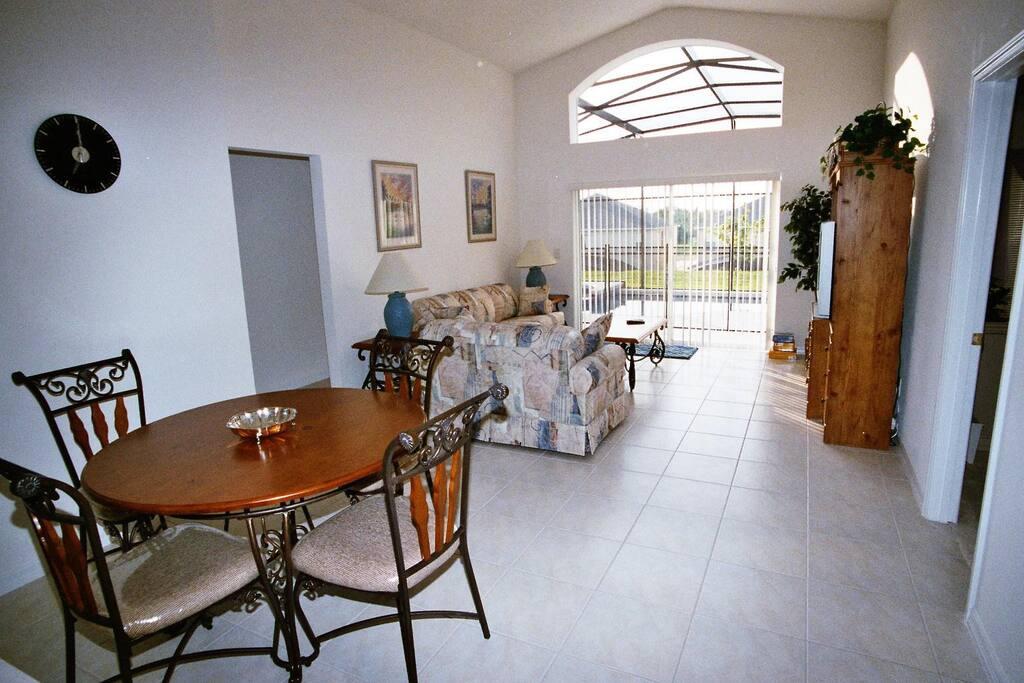 Pool lounge and breakfast room