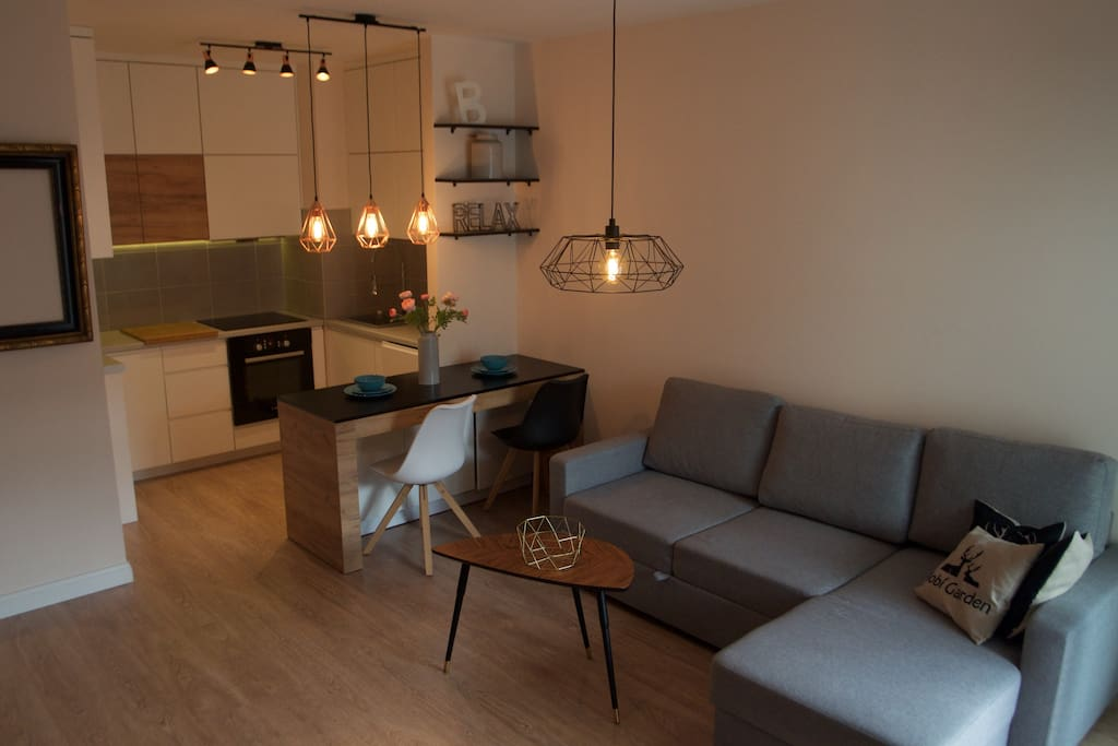 Living room with double sofa