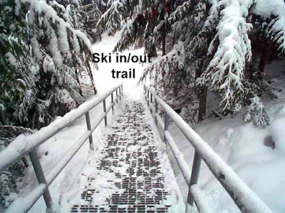 Stair case to ski out