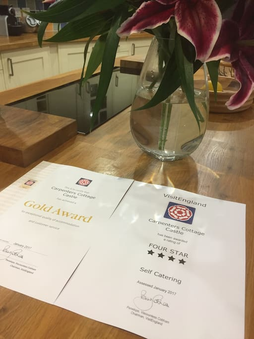 Recently received four star gold award - for the 7th year !