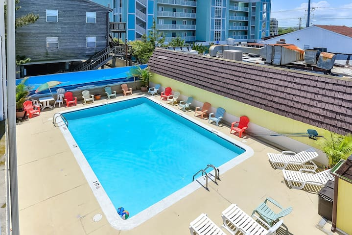 steps from beach, efficiency condo, outdoor pool - Ocean City - Appartement
