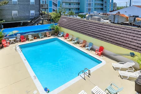 steps from beach, efficiency condo, outdoor pool - Ocean City - Társasház
