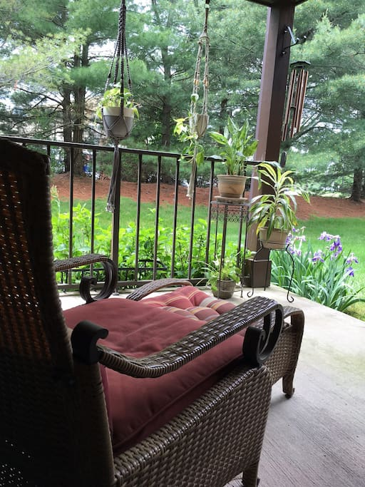 Peaceful porch to relax and read.