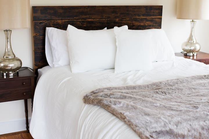 Sleep in or cozy up with your special someone.