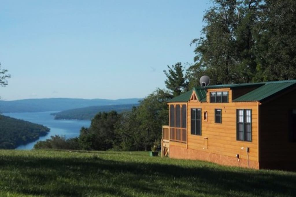 4 separate units overlooking beautiful Keuka Lake. This is the Keuka Chalet