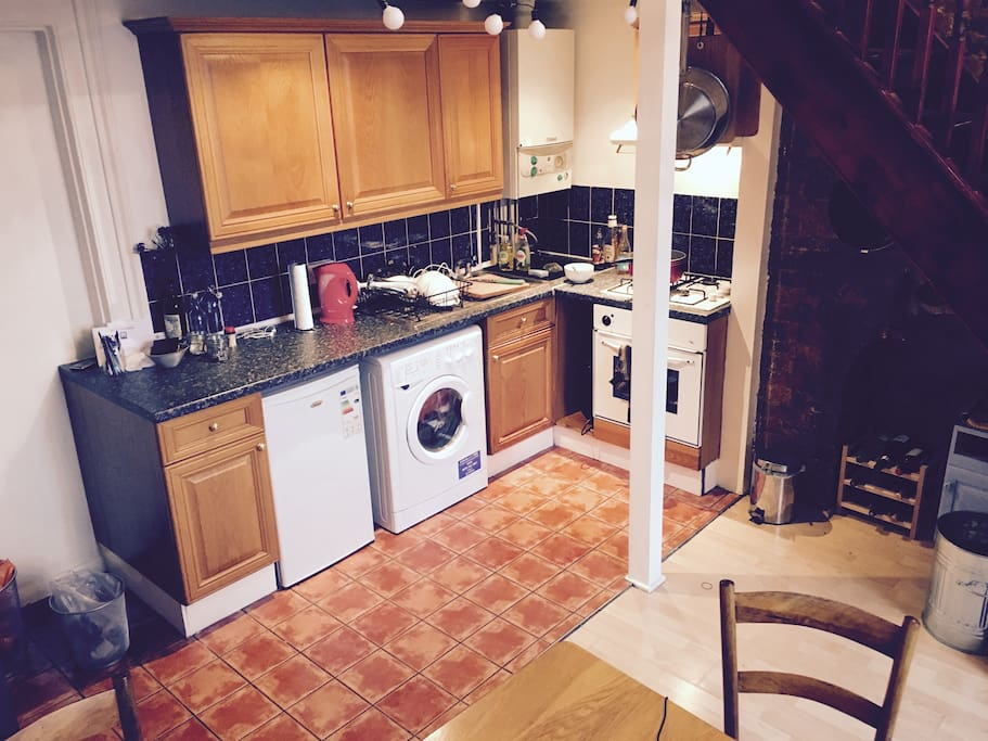 Fully equipped kitchen and large dining room