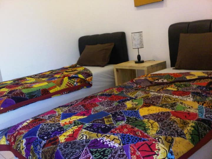 The Wayang Homestay Twin Bed with Fan