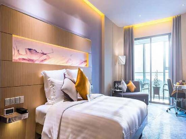湖景豪华房交通便利Deluxe room with lake view - 苏州 - Apartemen