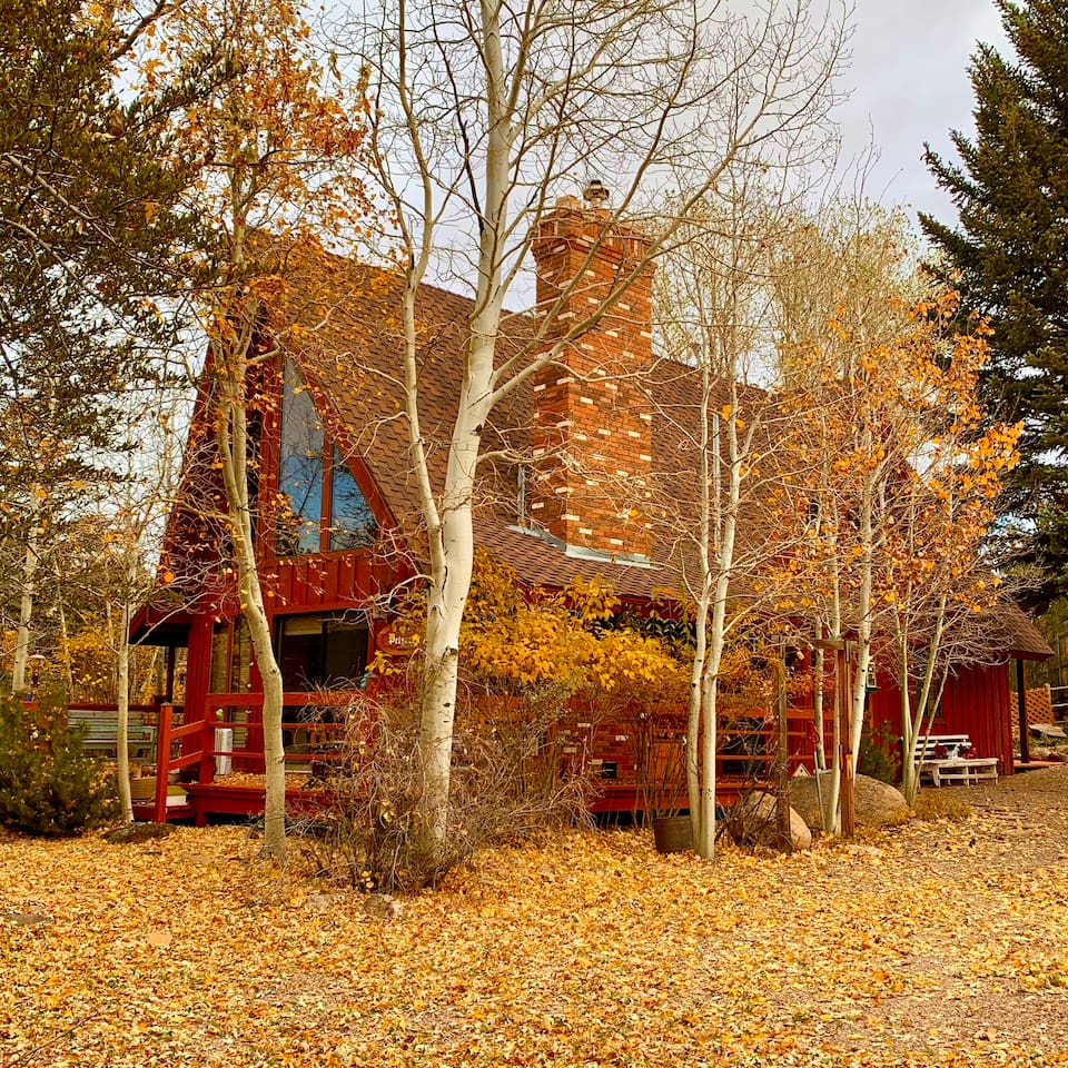 The Petersen cottage sits beautifully in all Seasons.  Mountain landscape with Pine, Maple, oak and Aspens.  Large decks to have coffee or BBQ.   Spending time alone or with friends and family you'll surely make beautiful memories.