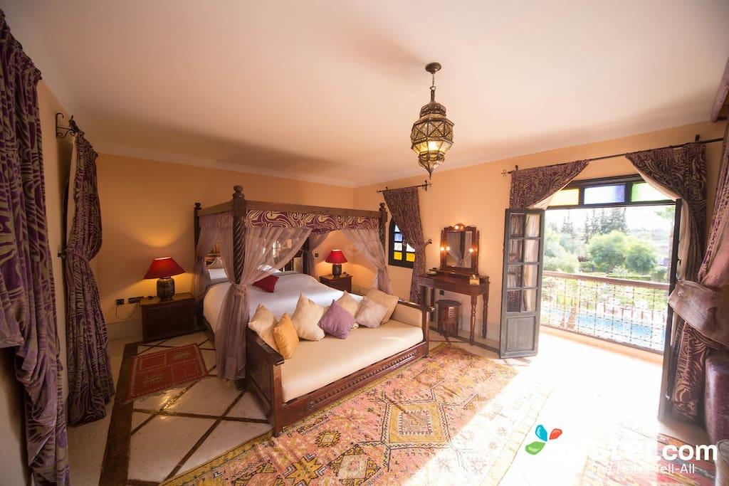 Suite senior Orchidée avec terrasse privée