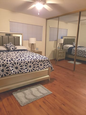 Beautiful bedroom with private bathroom upstairs A