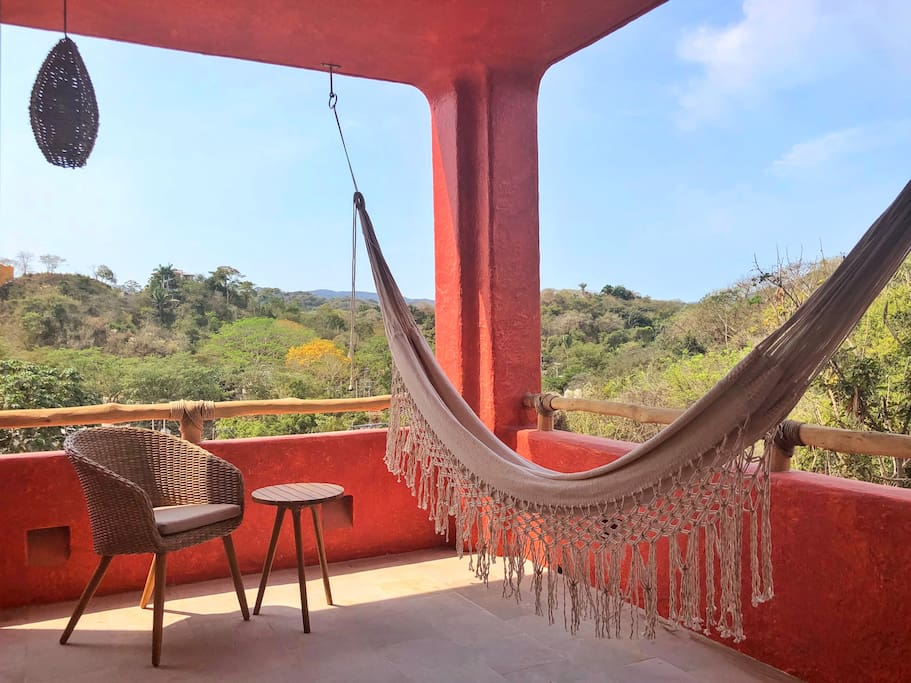 Private bird watching terrace gives you privacy for your afternoon siesta or morning coffee