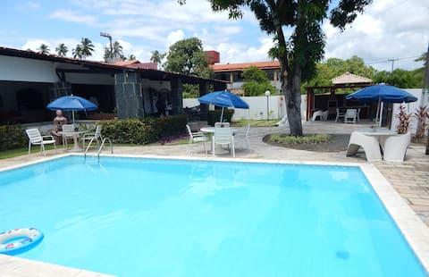 Ampla casa de 3 quartos com piscina em Serrambi
