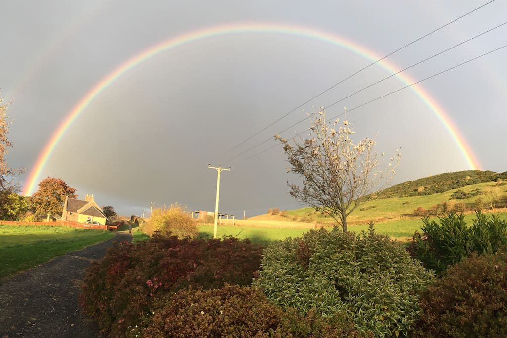 Beautiful Rainbow Over Cottage