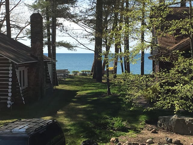 The view from the deck and path to the beach