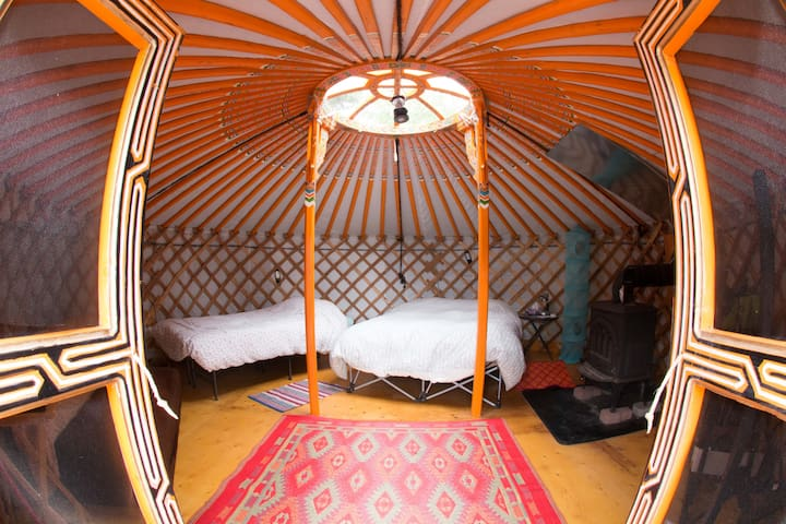 The Big Orange Yurt at Cabot Shores