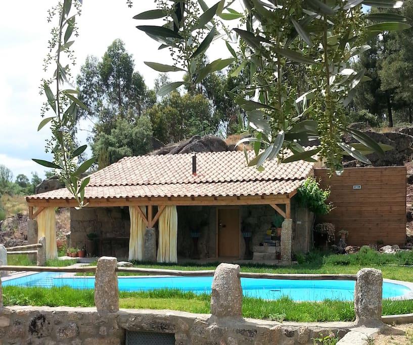 Casa com piscina salgada
