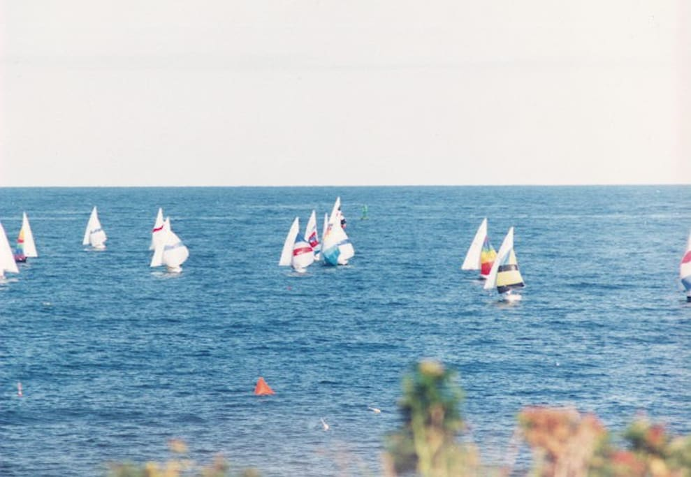Popples Cove House-view of saling race from house