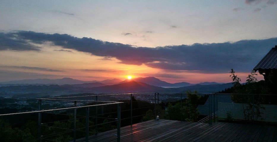 Sunrise over the Imari City