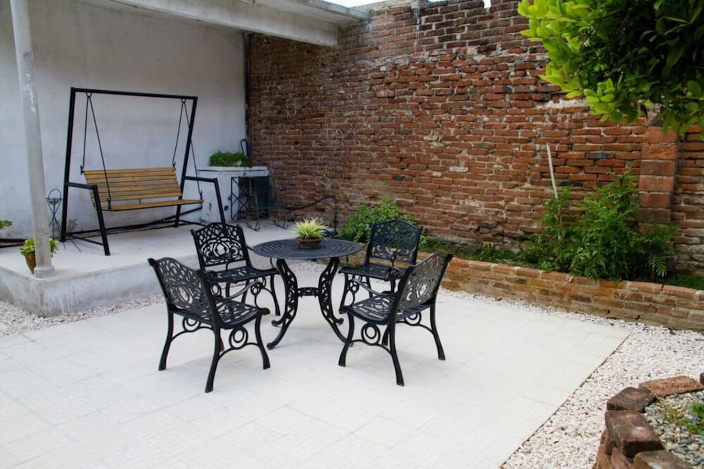 Relax outdoors in the privacy of your own courtyard