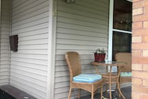Enjoy coffee on the porch!