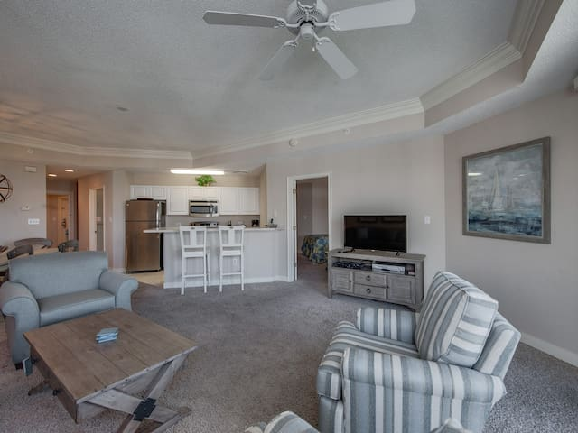 Living Room, Dining Area and Kitchen at 2502 Sea Crest