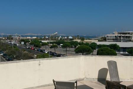 3 pièces Vue Mer 100m de la Plage - Marselha - Apartamento