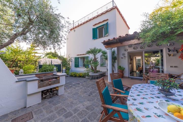 Villa sul mare panoramica con giardino