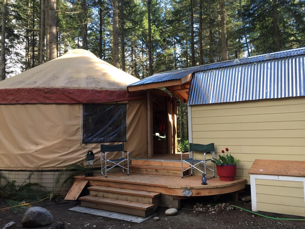 paisley paradise yurt yurts for rent in roy washington united