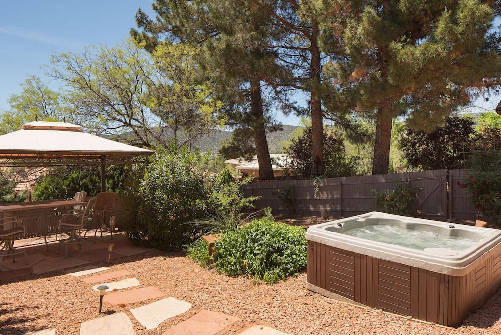 View of Hot Tub and Gazebo area